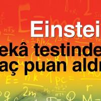 Albert Einstein Zeka Testinden (IQ) Kaç Puan Aldı?